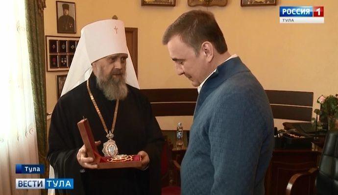 Губернатор рассказал митрополиту о новом тульском арт-объекте