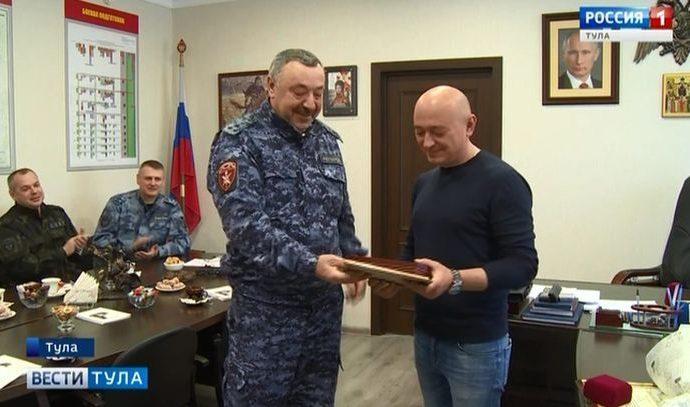 Тульские росгвардейцы отблагодарили журналистов ГТРК «Тула»