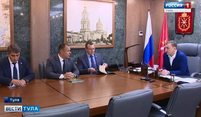 Алексей Дюмин провел рабочую встречу с директором регионального филиала   «Россельхозбанка»