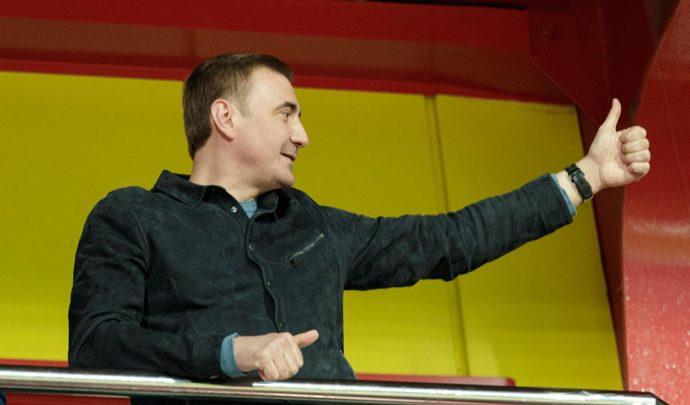 Алексей Дюмин поздравил «Арсенал» с выходом в Лигу Европы