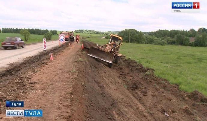Число аварийных участков дорог в Тульской области сократится вдвое