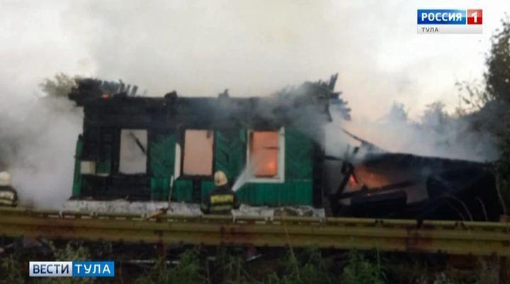На пожаре в посёлке Плеханово погибла пенсионерка