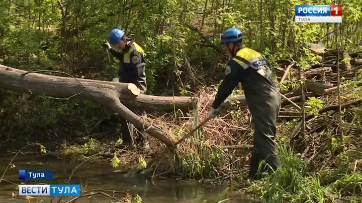 В Туле расчищают территорию у Щегловского ручья