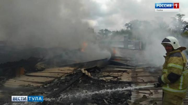 Пожары охватили накануне Теплоогарёвский район Тульской области