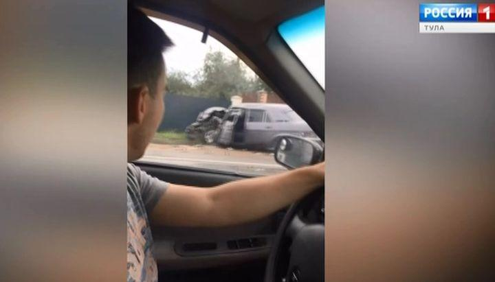 Трое мужчин пострадали в ДТП на трассе Тула-Новомосковск