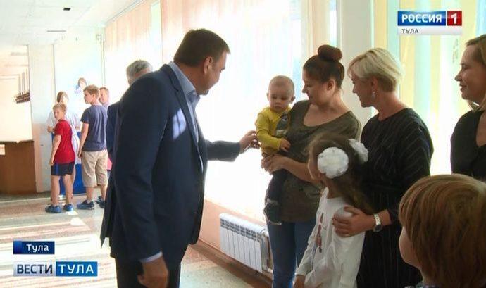 Алексей Дюмин оценил ход ремонта поликлиники на Оборонной