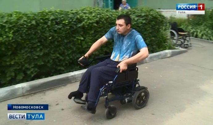 ОНФ помог жителю Новомосковска добиться современной инвалидной коляски