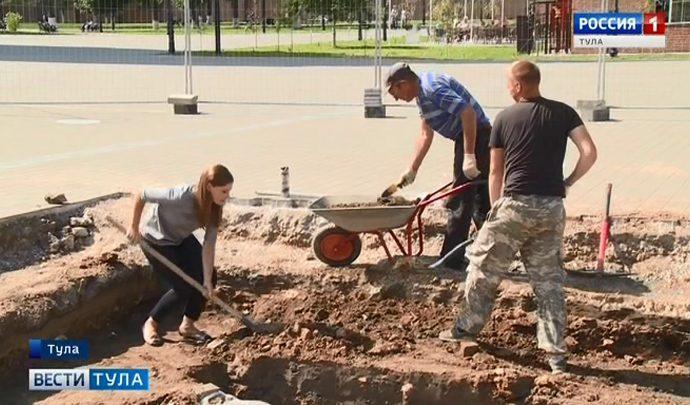 В Тульском кремле обнаружен остов древнего храма