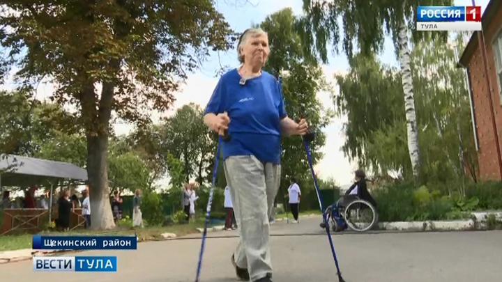 Соревнования по северной ходьбе среди одиноких пожилых людей стартовали в Туле