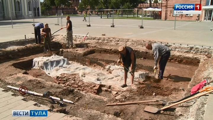 В Тульском кремле обнаружено древнее кладбище
