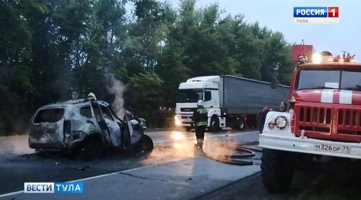 В Чернском районе в ДТП погибла водитель кроссовера