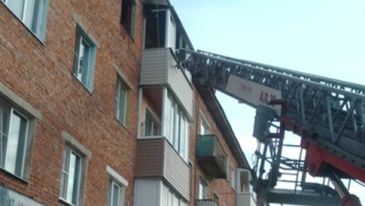 В Скуратове сгорела квартира на верхнем этаже четырехэтажки