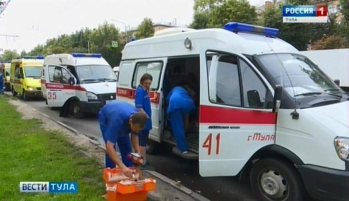 В Туле произошло ДТП с участием машины скорой помощи