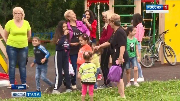 В скуратовском посёлке Трудовом прошёл праздник «Лето во дворах»