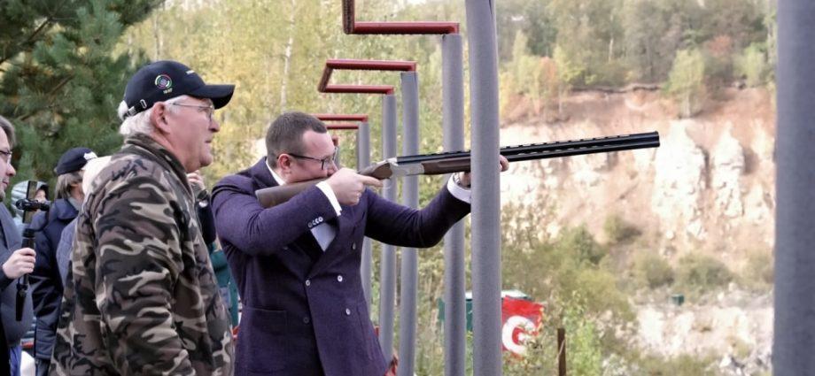 Валерий Шерин на открытии Кубка губернатора Тульской области по стендовой стрельбе