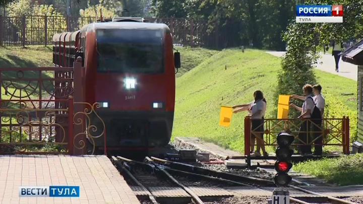 Тульская детская железная дорога закрывает сезон