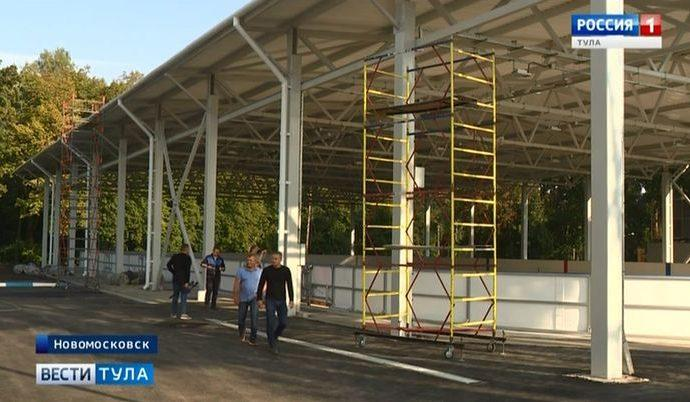 Третья ледовая арена в Новомосковске готовится принять первых посетителей