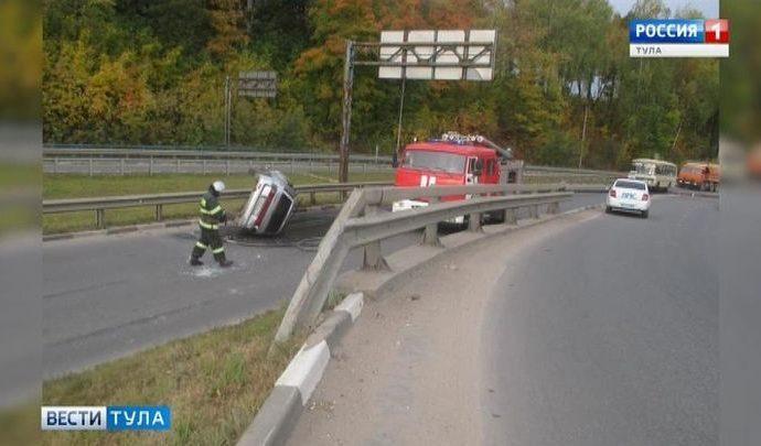 В Тульской области произошли два ДТП с «перевёртышами»