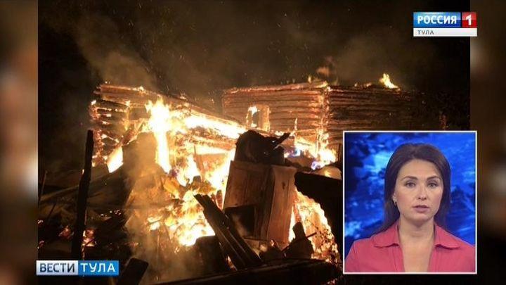 Пожар в Заокском районе унёс жизнь человека