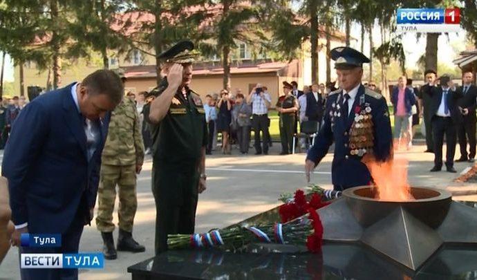 В Туле открыт мемориал в честь погибших росгвардейцев