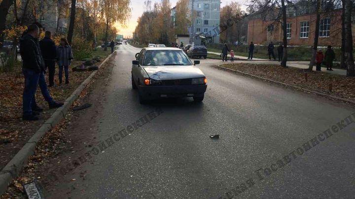 В городе Щёкино девочка-подросток попала под машину