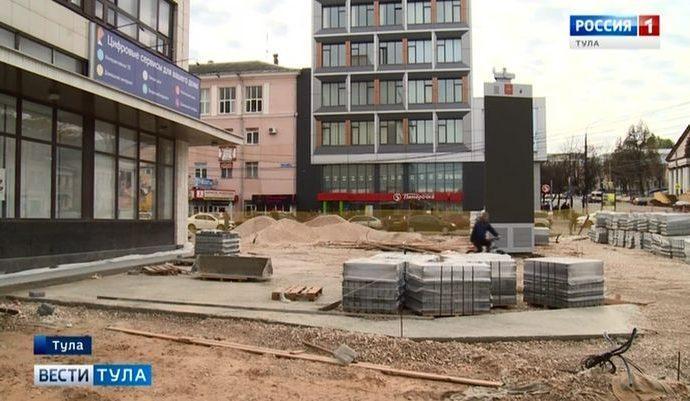 Назван новый срок завершения работ у Главпочтамта Тулы