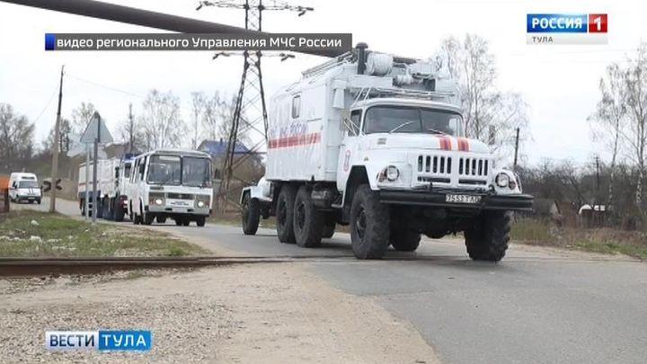 В Тульской области прошли масштабные учения спасателей
