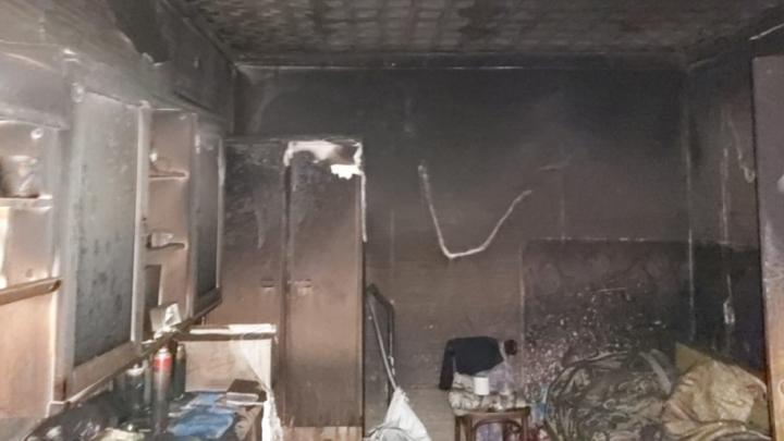 В Туле при пожаре на Руднева пострадал человек
