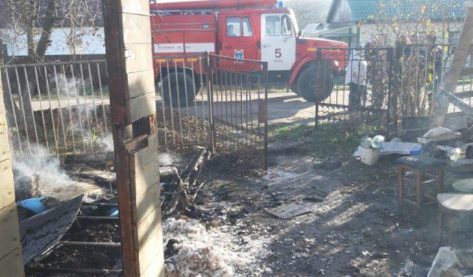 На Косой Горе в огне погиб пожилой мужчина