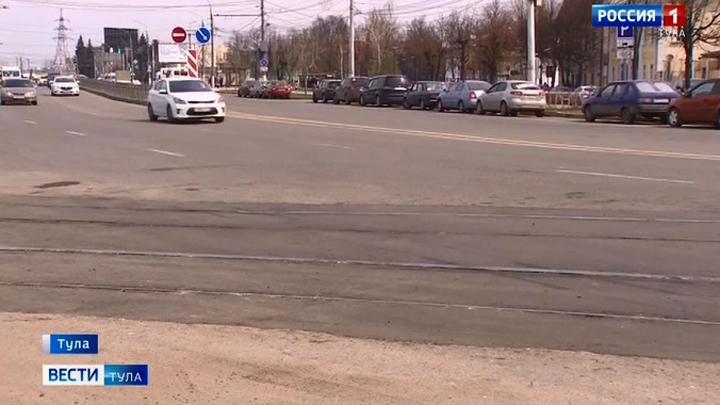 На Советской в Туле реконструируют трамвайные пути