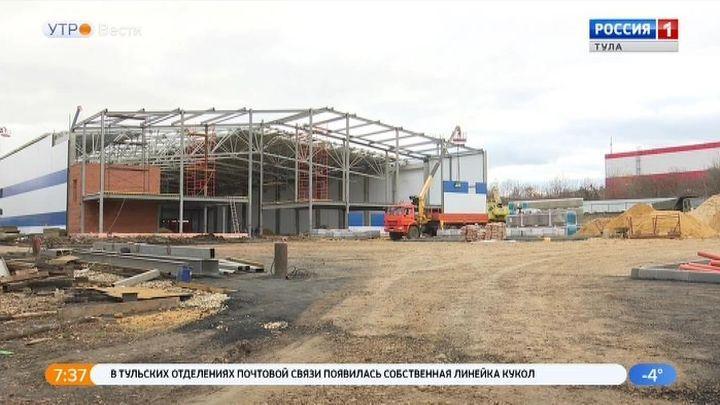 Строительство Ледового дворца в Ефремове завершат в июне