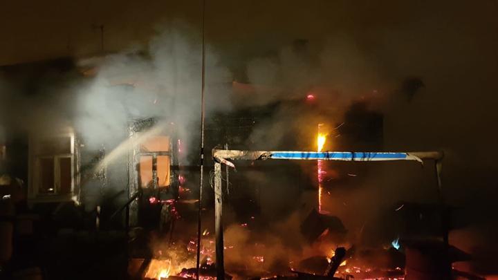 В Алексине мужчина погиб в огне