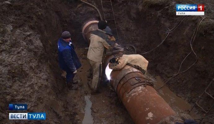 Юг Тулы остался без воды из-за полностью изношенного водовода