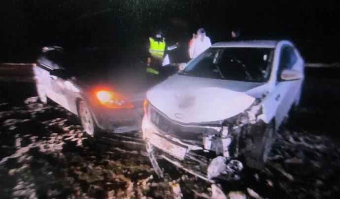 В Тульской области иномарка протаранила два автомобиля