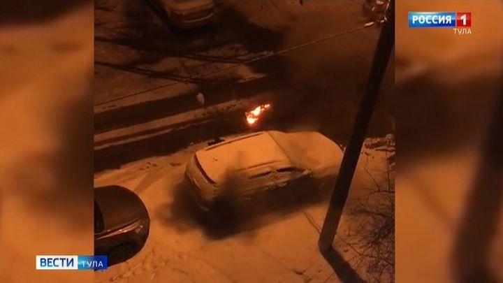 Предполагаемый поджигатель внедорожника в Новомосковске задержан