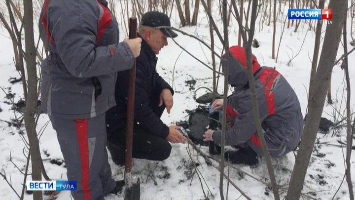 Незаконный слив отходов выявлен в Новомосковске