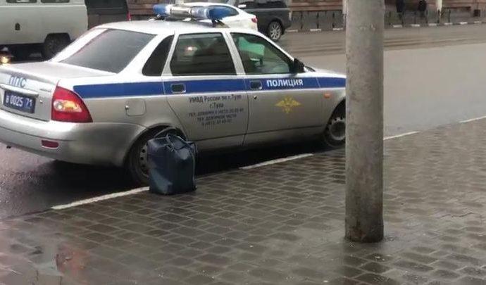 На улице Советской в Туле обнаружена бесхозная сумка (видео)