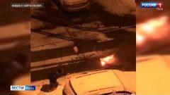 В Новомосковске девушка предотвратила возгорание машины