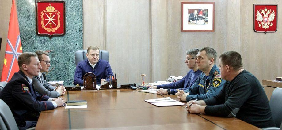 Совещание у губернатора Тульской области Алексея Дюмина
