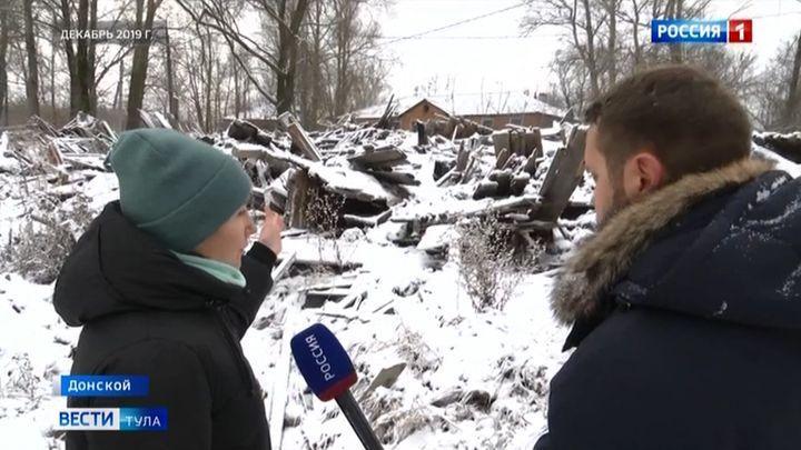 В Донском людям из разрушенного дома выделят квартиру по решению суда
