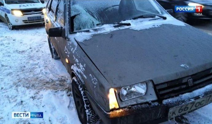 В Киреевском районе отечественная легковушка сбила пешехода