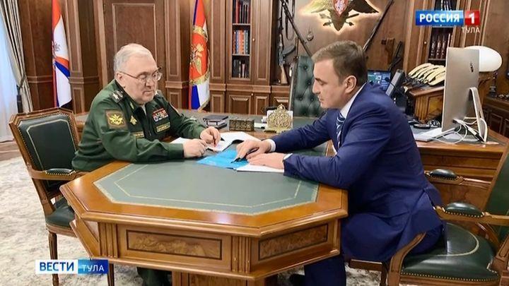 Алексей Дюмин провёл ряд рабочих встреч в Москве