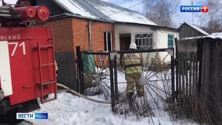 В Богородицком районе при пожаре погиб пенсионер
