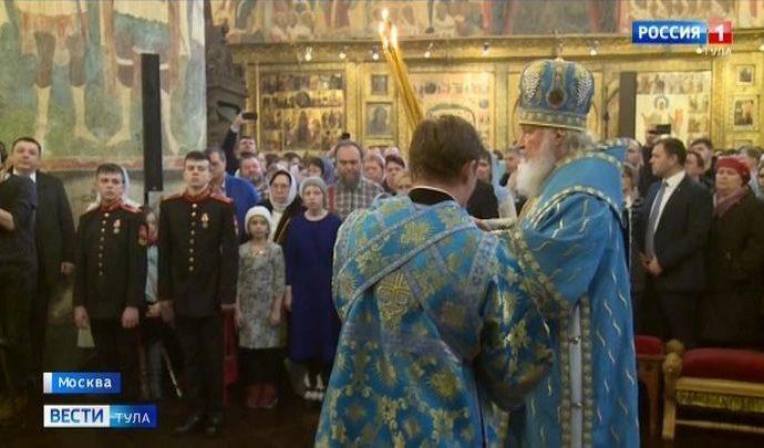 Тульская делегация посетила Патриаршее богослужение в Успенском соборе Московского кремля