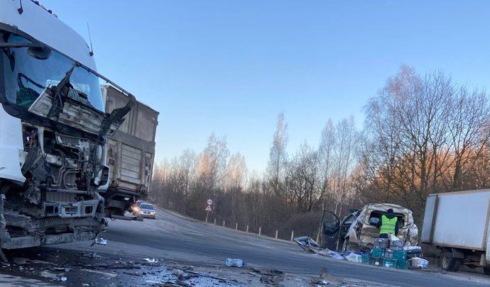 На трассе «Крым» произошло массовое ДТП