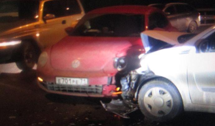 В Туле из-за неуступчивости водителя произошло ДТП