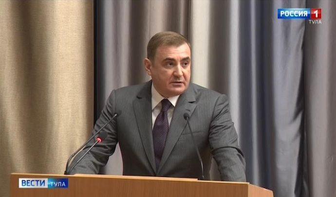 Алексей Дюмин принял участие во внеочередном заседании Тульской областной Думы