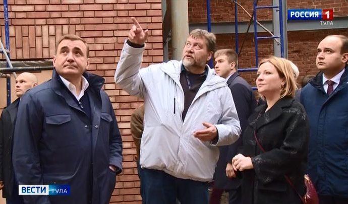 Министру культуры России устроили экскурсию по центру Тулы