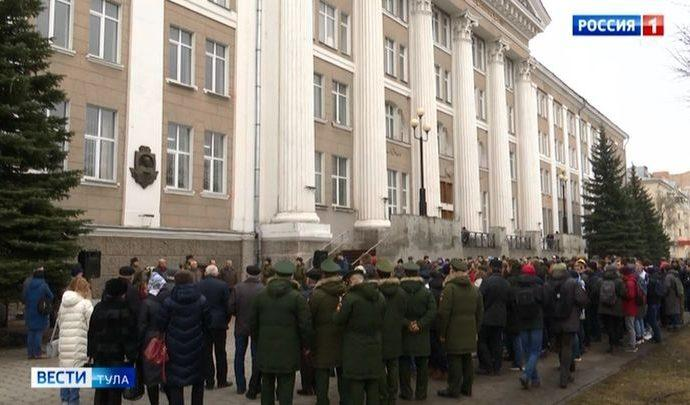 В Туле прошёл митинг памяти конструктора Василия Грязева