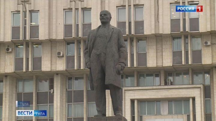 В Туле отремонтируют постамент памятника Владимиру Ленину